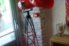 Lampe balise rouge