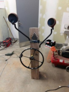 Lampe tracteur en construction